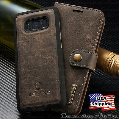 For Galaxy Note 9/8 S9/S8 Plus Leather Removable Wallet Magnetic Flip Case Cover