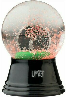 2017 $1 CHERRY BLOSSOM Snow Globes Silver Coin, Cook Islands.