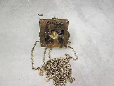 Hermle Time & Strike Wall Clock Movement 261-080 31cm with Chains and Hooks