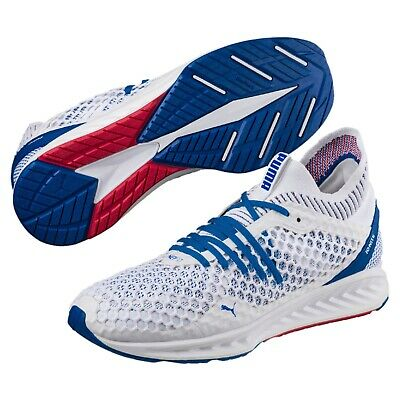 aecece7f6af4 NEW MEN S PUMA Ignite Netfit - 190339-02 White Blue Running Sneaker ...
