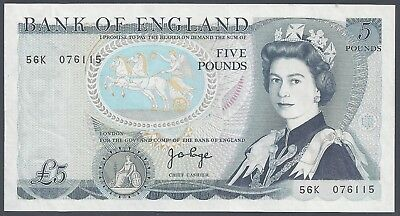 Great Britain (6115), 1973-80, 5 Pounds, P378b (Sign: Page), XF+