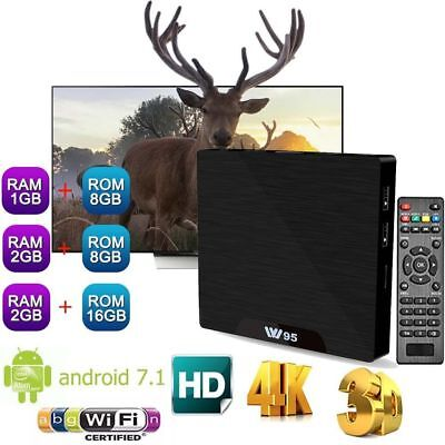W95 Android 7.1 Smart TV Box 1G/2Go 8Goo/16Go 4K Amlogic S905W Quad-core HD NEUF