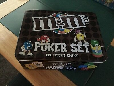 M&M poker set collectors edition in tin box brand new