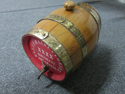 XXXX wooden beer keg collectable souvenir
