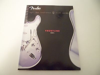 Fender Guitar Frontline Catalog 2001 Guitars Amplifiers Strings FREE US SHIPPING