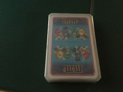 M&M  deck of cards sealed in plastic case all characters