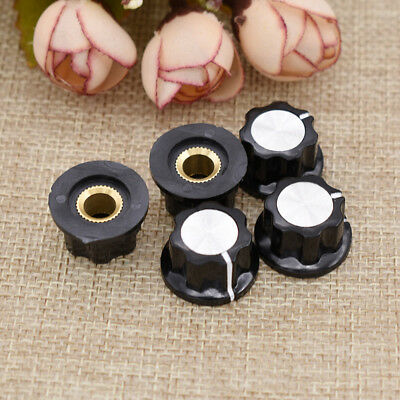 2X 36mm Top Rotary Control Turning Potentiometer Knob For Hole Shaft 6mm Ideal