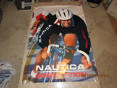 "Vintage Nautica Competition Advertising Poster Cycling 27""x39"""