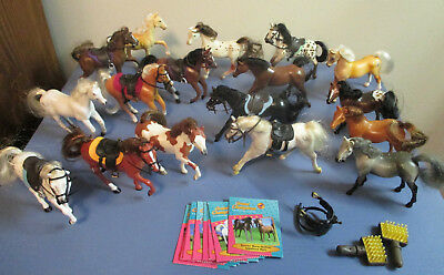 Grand Champions Lot of 17 Vintage Mini Toy Horses & Accessories 1995 1996 Empire