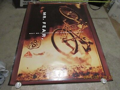 "Vintage Nike Air Acg Advertising Poster 31""x40"" Cycling Mountain Bike"