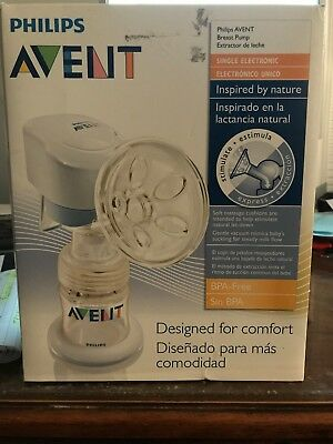 Philips AVENT BPA Free Portable Comfort Single Electric Breast Pump Phillips NEW