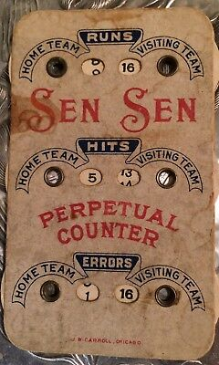 1915 Sen Sen Baseball Card Dial Perpetual Counter Historic Gum Merchant
