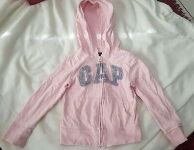 Gap Pink Grey Girls Zip Up Jumper Size 4- 5