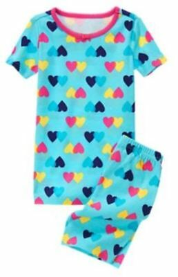 NWT Gymboree Girls Gymmies Heart Shortie Pajama Set 6,7,8,10