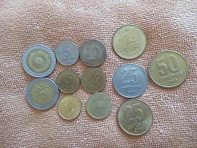World coins from Argentina x12