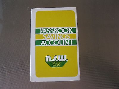 Nsw Permanent Bldg Society Passbook Savings A/c Deck Of Cards