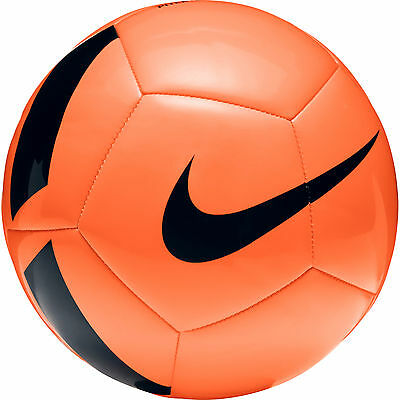 FOOTBALL/ SOCCER BALL NEW FOR 2017 NIKE PITCH 2nd TIER BALL SIZE 4 ORANGE/BLACK