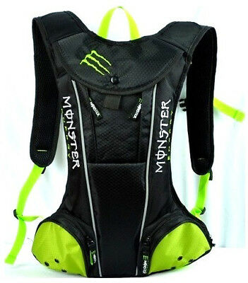 New Monster Energy Black Bicycle Cycling Hydration Camel Pack Drinking Water Bag
