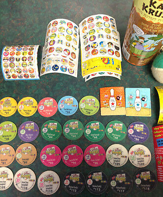 Simpsons Pickers Tazo Set Collectable Tin Vintage Simpsons Collector Cards Decal