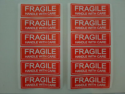 FRAGILE handle with care 76 x 25mm self adhesive shipping label sticker 10 20 50