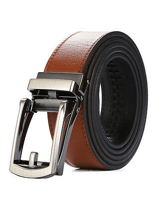 Tonywell Mens Leather Ratchet Belt with New Style Open Buckle Dress Belt 30mm AU