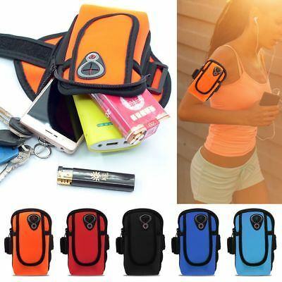"Universal Sport Running Riding Armband Case Cover For ≤ 6"" Cell Phone Holder Bag"