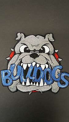 "Bulldogs Embroidered  Patch Approx. 6."" W X 5.5 "" H"