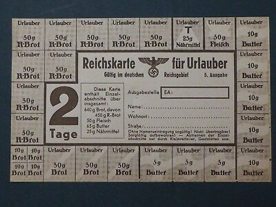 Ww2Nazi Germany Genuinerationstamps In A Full Sheet Super Rare As Asheet  Rare