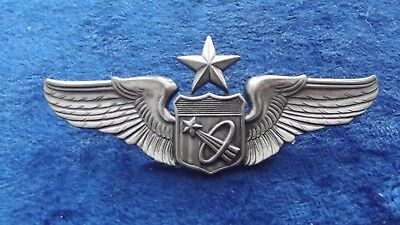 ^*(A2-023) US Air Force Astronaut Pilot Wing Abzeichen NASA Senior