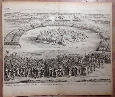 Holy Land Battle Of Jericho 1690 By W. & J. Goeree Large Copper Engraved View