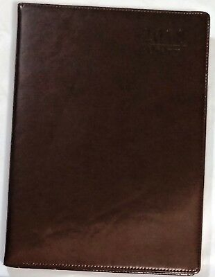 2018 Diary A4 DAY To View Personal Organiser Appointment BROWN 100% Brand New