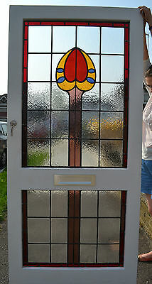 Leaded light stained glass front door with keys. R299. WORLDWIDE DELIVERY!!!