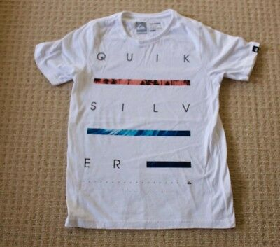 Quicksilver Boys Youth Size 10 White Design T-Shirt Never Worn
