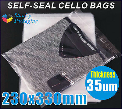 Cello Clear Bags 35UM 230x330mm Cellophane Plastic Polypropylene Bag C4 size