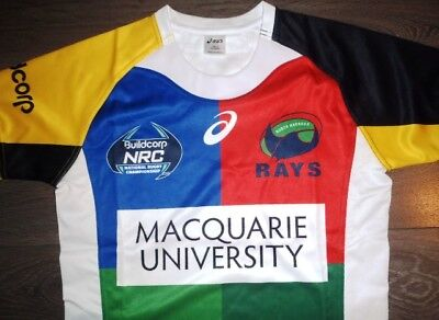 Bnwot North Harbour Rays Nrc Rugby Union Small Jersey Shirt Asics Nsw Gps Pocket