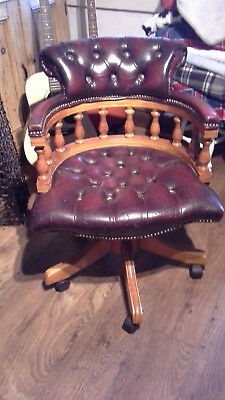 Reproductio N Leather Captains Chair