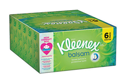 6 X Kleenex Balsam Tissues Strong 3 Ply With Soothing Protective Balsam NEW