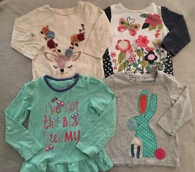 Bundle Girls Colourful Long Sleeve Tops *4 Tops* 12-18 Months NEXT TU