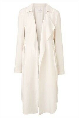 Witchery Cream Petal Trench Coat soft tailored jacket Size 8