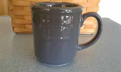 Longaberger Woven Traditions Pottery Coffee/Mug/Cup Pewter gray NEW~FREE SHIP