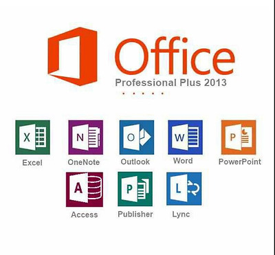 Microsoft Office Professional Plus 2013 for Windows - 32/64 Bit - Fast Delivery