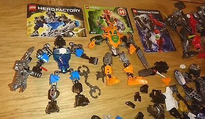 Lego Hero Factory 2144, 6282, 6218 + spares + Chima CHI mixed parts Bionicle etc