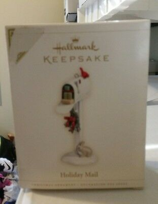 2006 Hallmark Keepsake Handcrafted and Metal Holiday Mail Ornament VIP Gift q