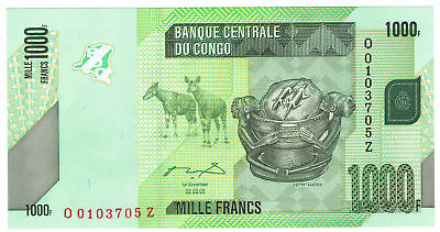 CONGO democratic republic 1000 Francs 02.02.05  Pick 85 Rare replacement note
