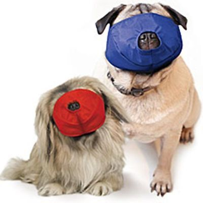 Canine Dog Muzzle Quick Water Resistant Nylon Small & Large Pug Nose 5-30 Pounds