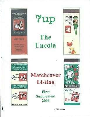 Catalogs of the History of 7Up & Matchbook History By Bill Hubbard