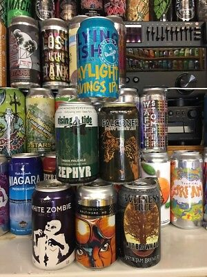 6 Craft/Micro Beer Cans.