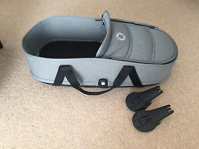Bugaboo bee 3 Grey Melange Carrycot Bassinet, Base and Adaptors