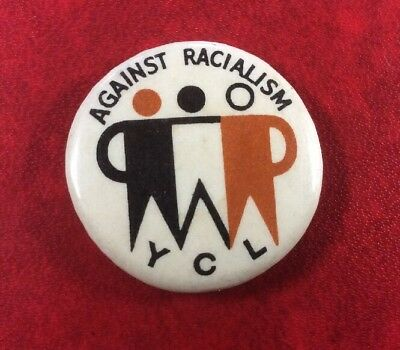 US YOUNG COMMUNIST LEAGUE AGAINST RACIALISM. 1970's. Pin Button Badge Very Rare.