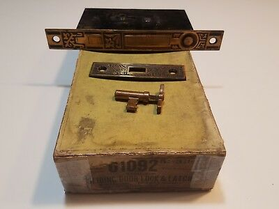 Antique Vintage Single Corbin Pocket Sliding Door Lock Set